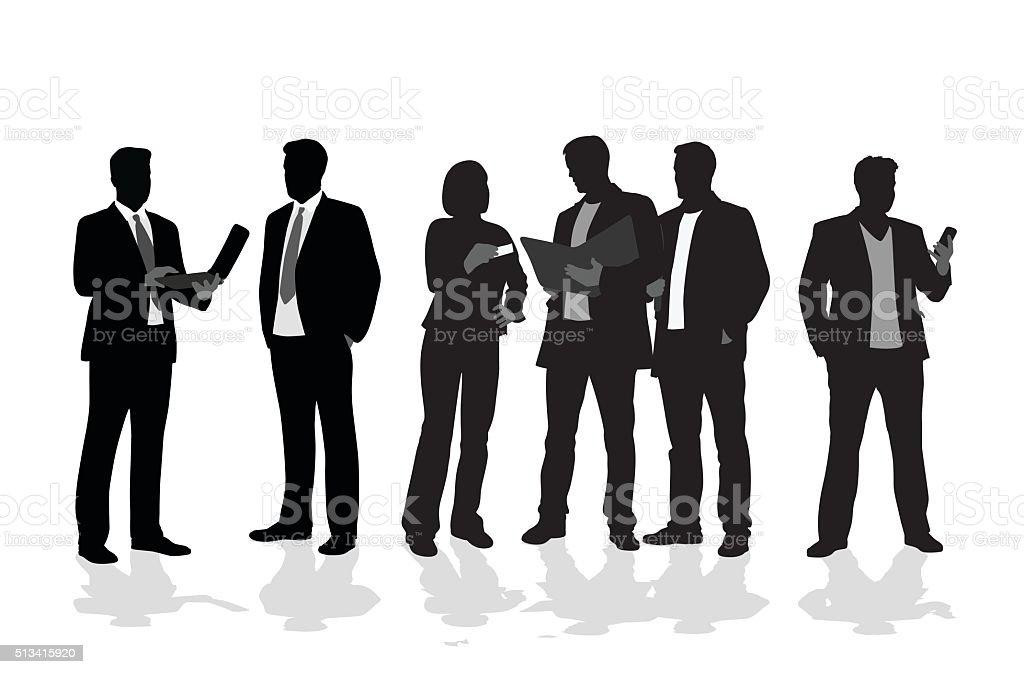 Business Arrangements vector art illustration
