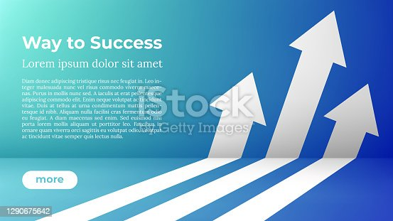 istock Business Arrow Target Direction Concept to Success. 1290675642