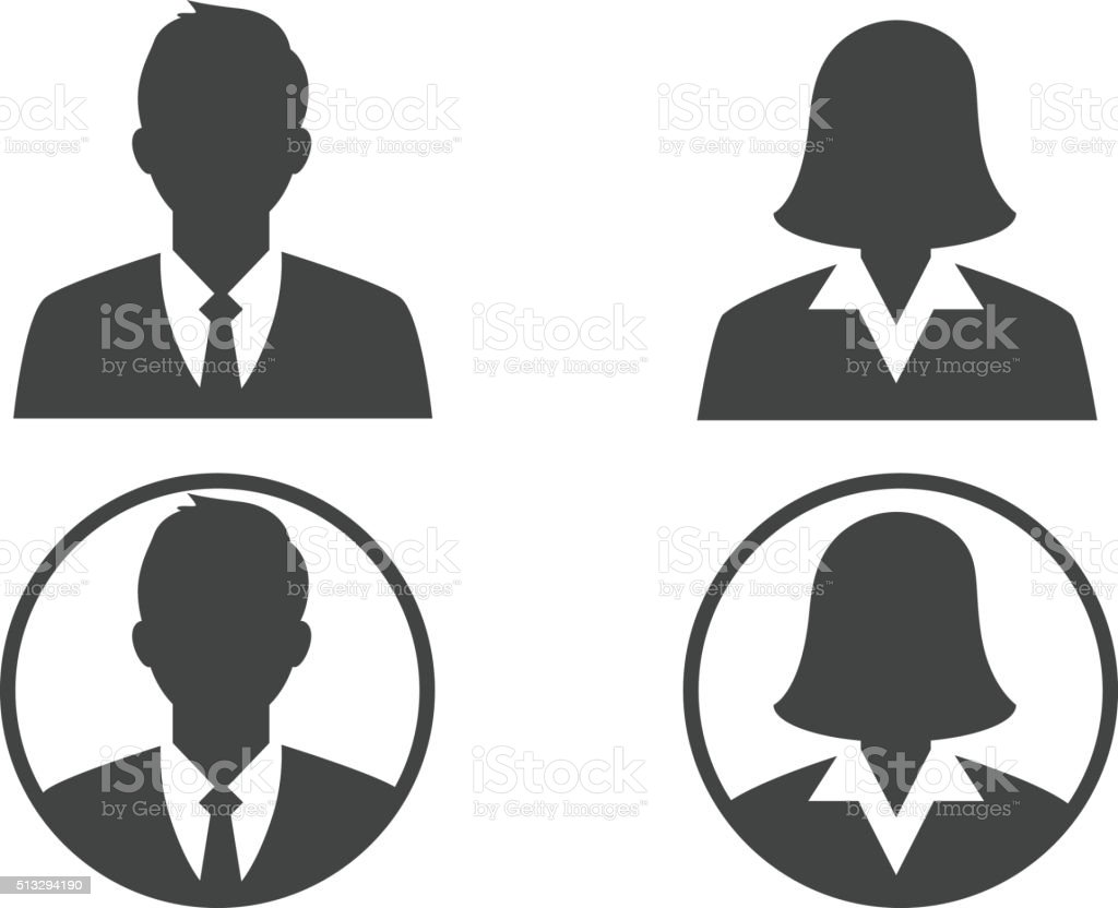 Business avatar profile vector art illustration
