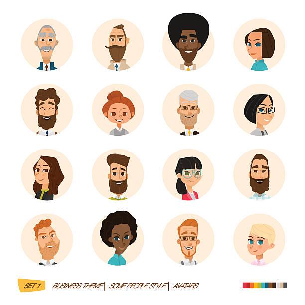 stockillustraties, clipart, cartoons en iconen met business avatars set - woman very rich