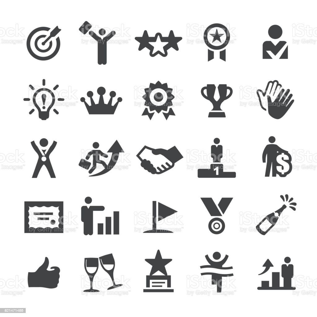 Business Award Icons - Smart Series vector art illustration