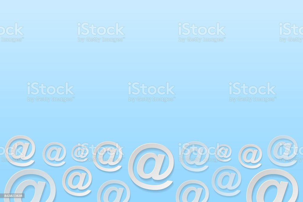 Business Background With Email Address Symbols Vector Stock Vector