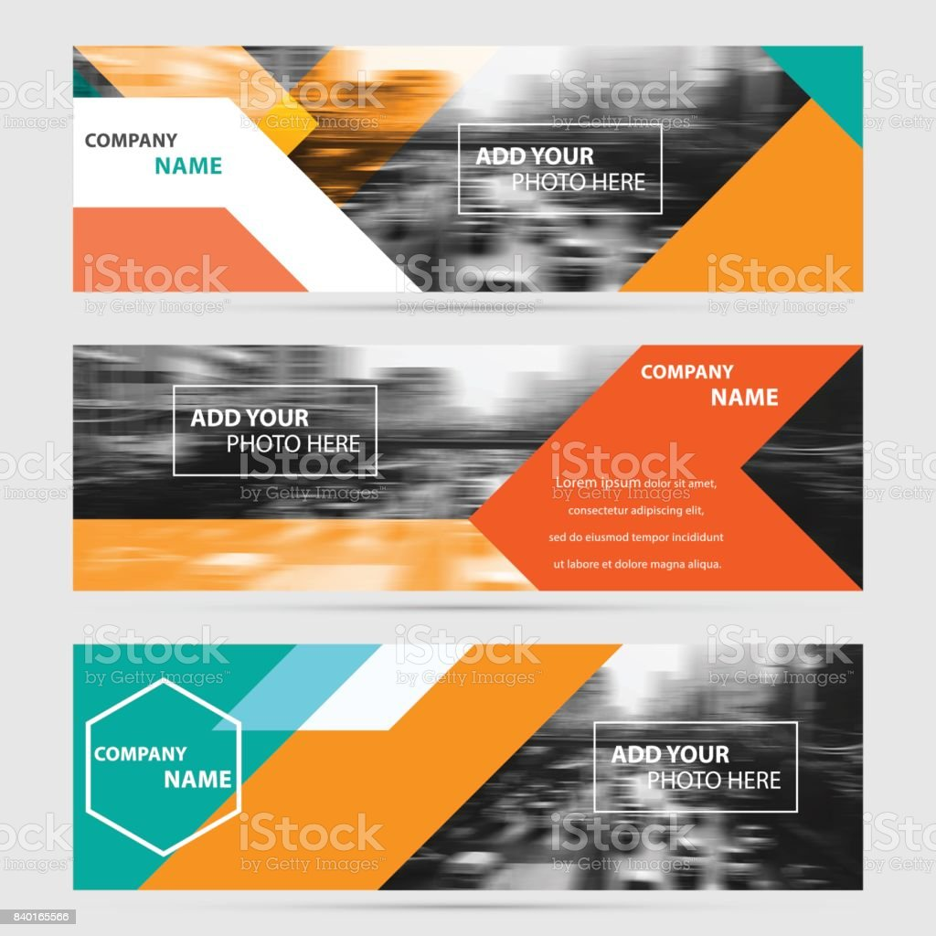 Business banner set vector templates clean modern geometric abstract business banner set vector templates clean modern geometric abstract background royalty free business wajeb Gallery