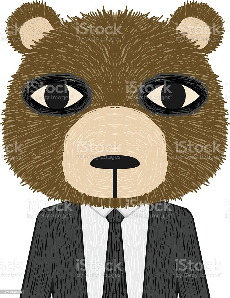 Business Bear royalty-free business bear stock vector art & more images of animal
