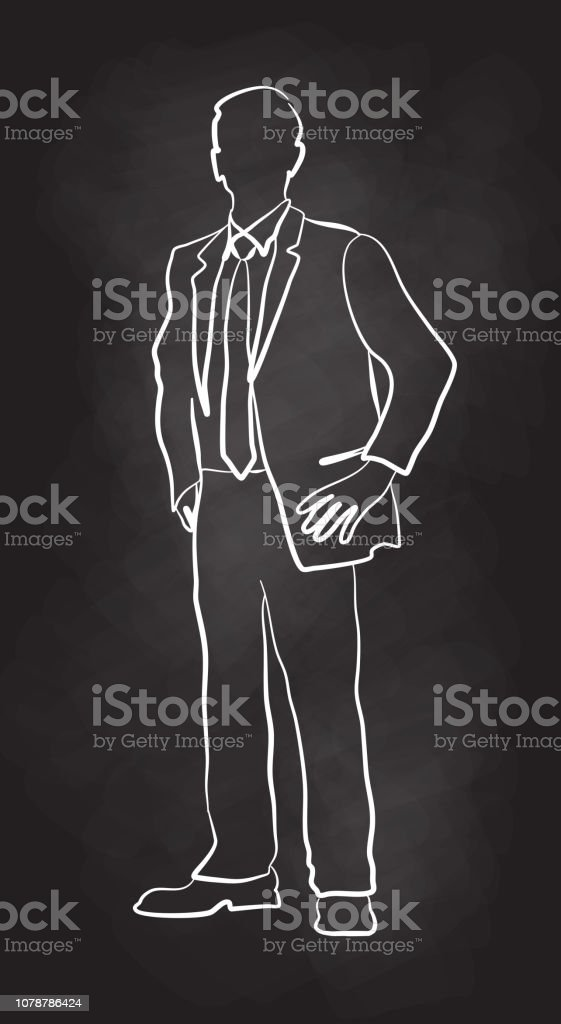Business Best Foot Forward vector art illustration