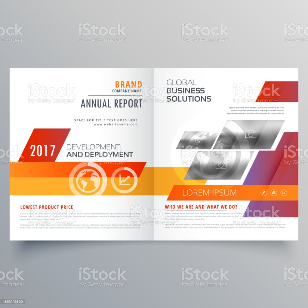 Business Bi Fold Brochure Or Magazine Cover Page Design Vector ...