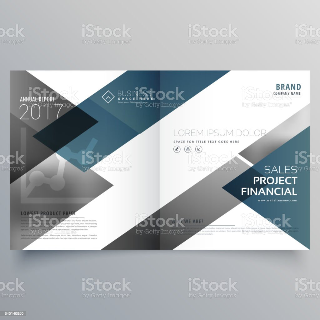 business bifold brochure flyer leaflet magazine cover page design