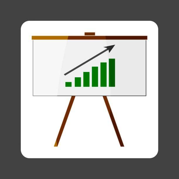 geschäft billboard vektor icon farbige aufkleber mit grafik. business-tafel. schichten zur einfachen bearbeitung abbildung zusammengefasst. für ihr design. - standlautsprecher stock-grafiken, -clipart, -cartoons und -symbole