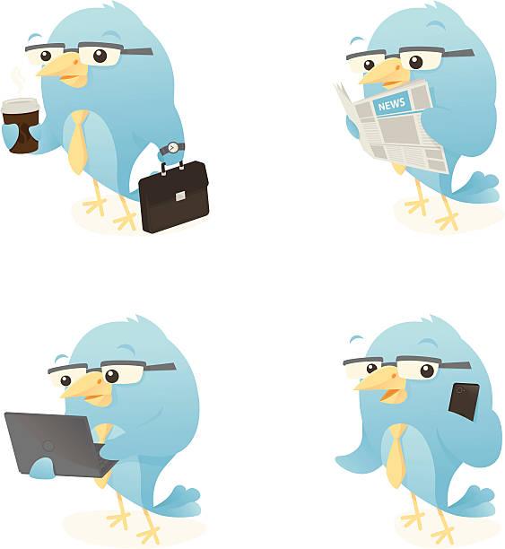 Business Birds vector art illustration