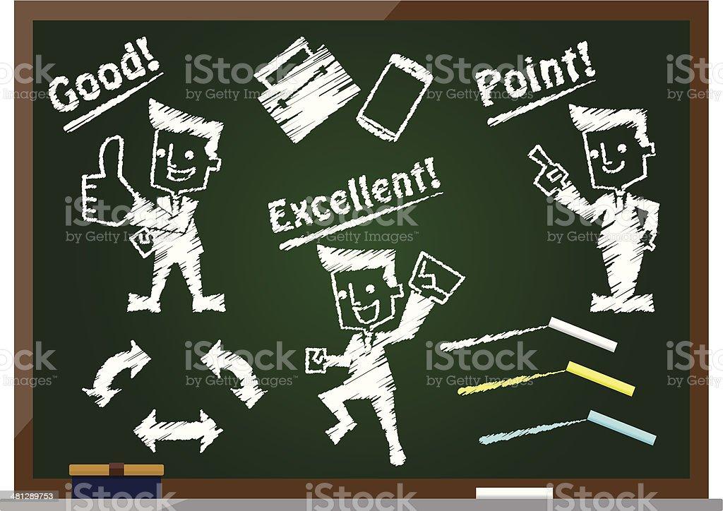 Business blackboard graffiti vector art illustration
