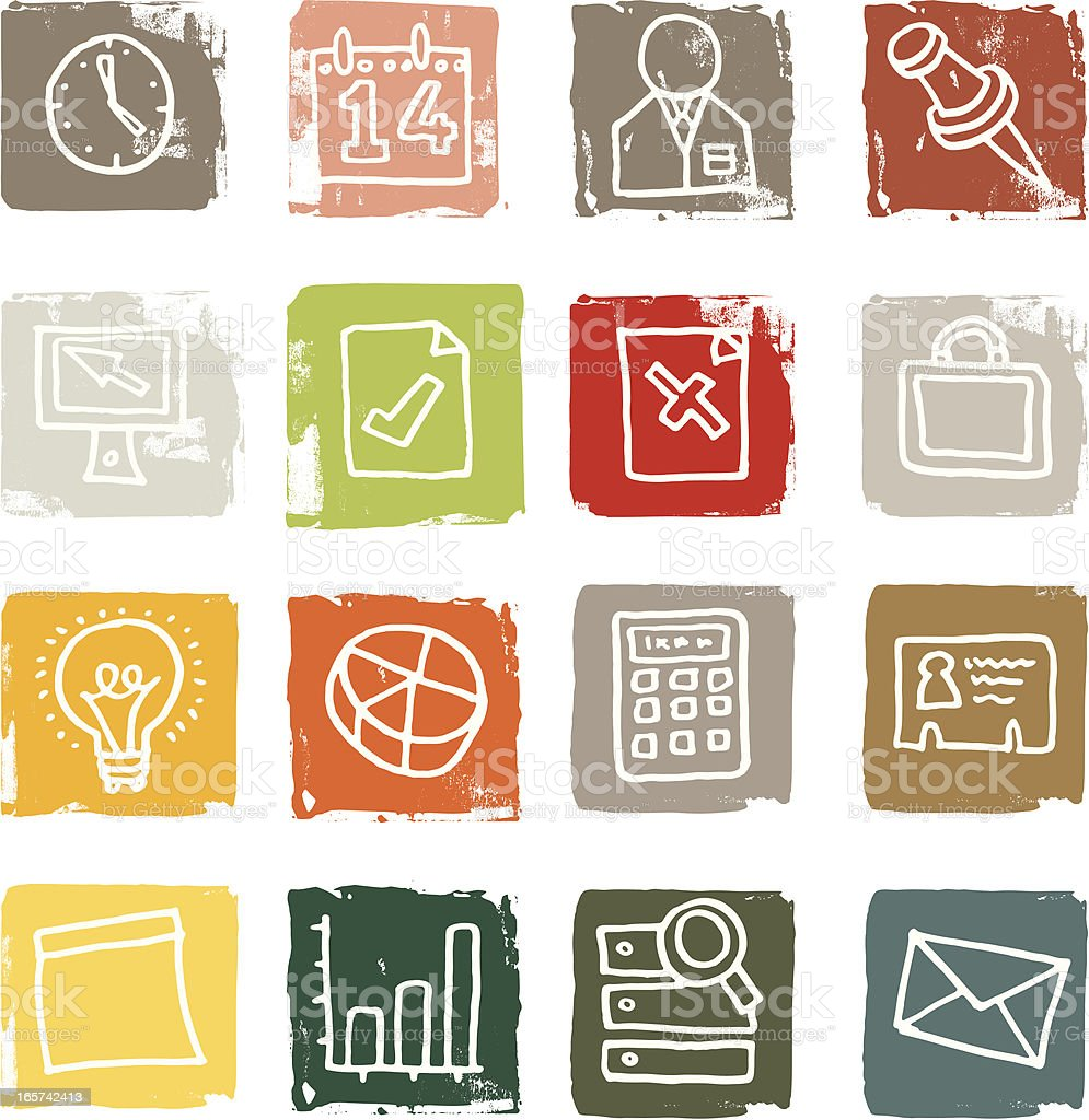 Business block grunge icons royalty-free business block grunge icons stock vector art & more images of address book