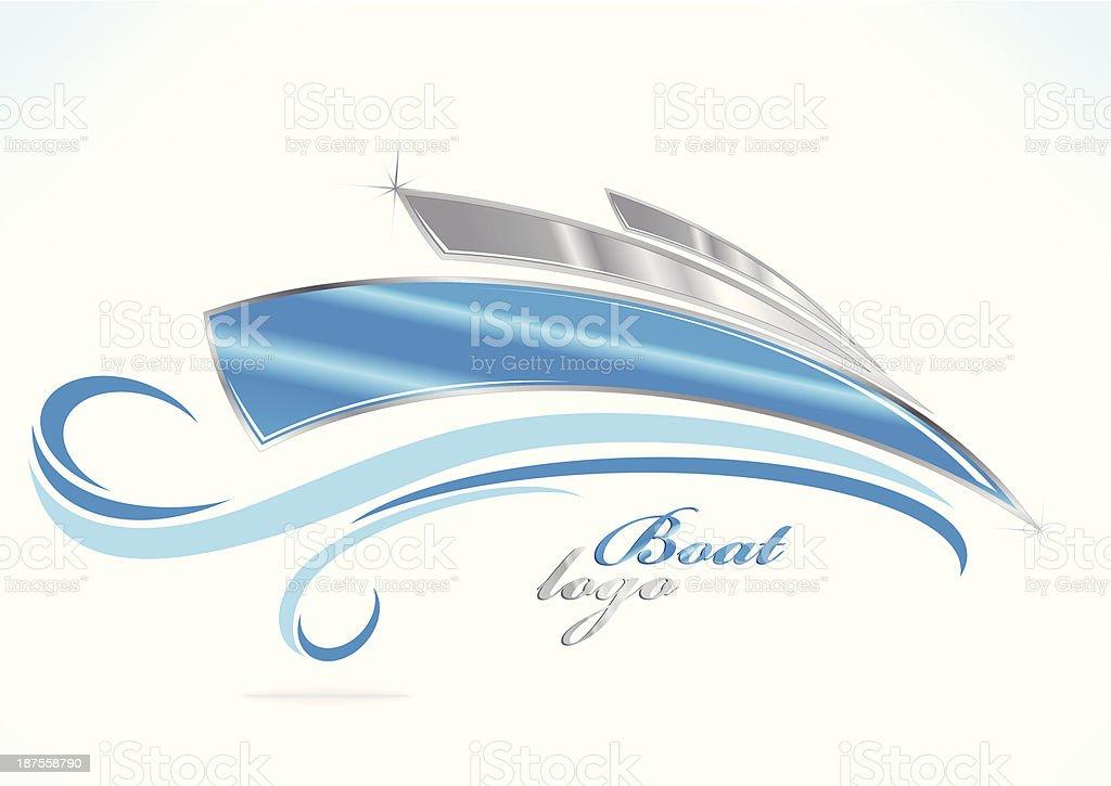 business boat logo vector art illustration