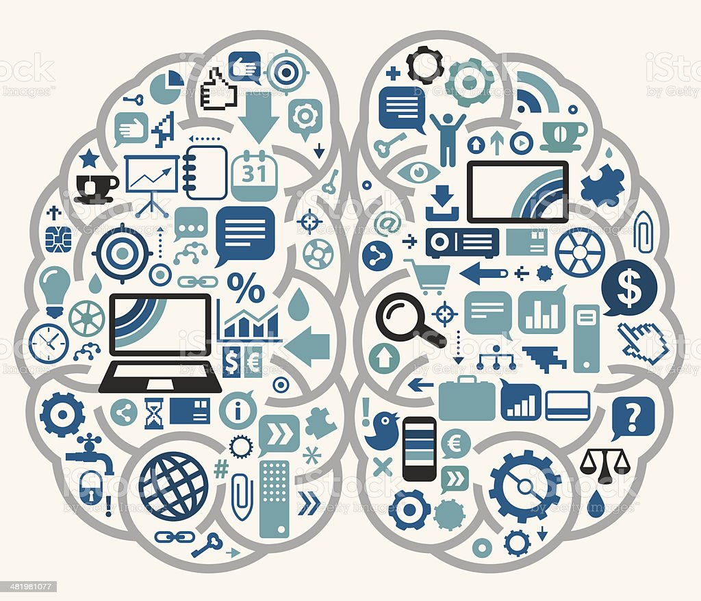 Business Brain Stock Illustration - Download Image Now ...