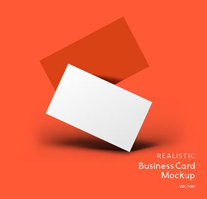 Business Branding Card Vector Mockup