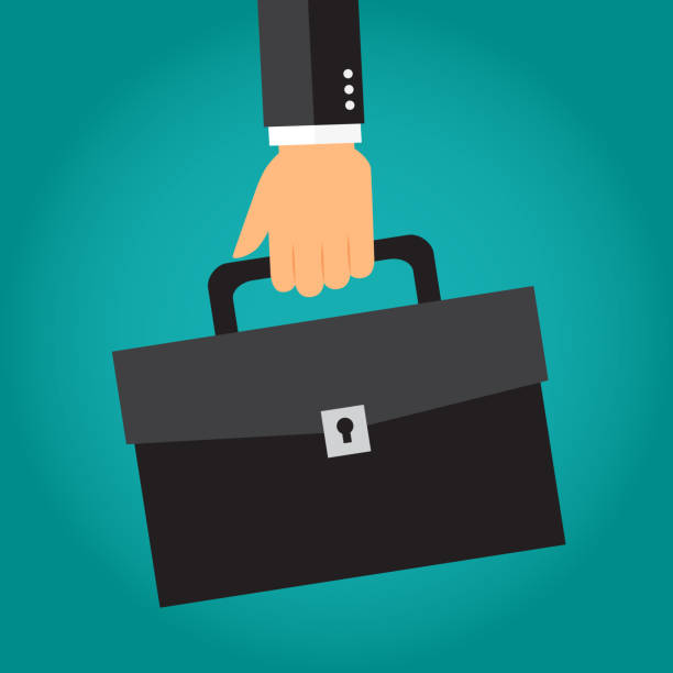 illustrazioni stock, clip art, cartoni animati e icone di tendenza di business briefcase - borsa 24 ore