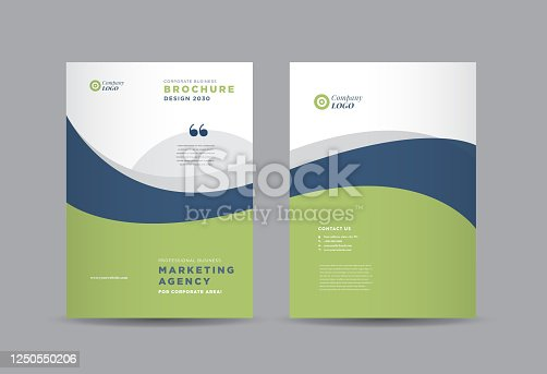 istock Business Brochure Cover Design | Annual Report and Company Profile Cover | Booklet and Catalog Cover 1250550206