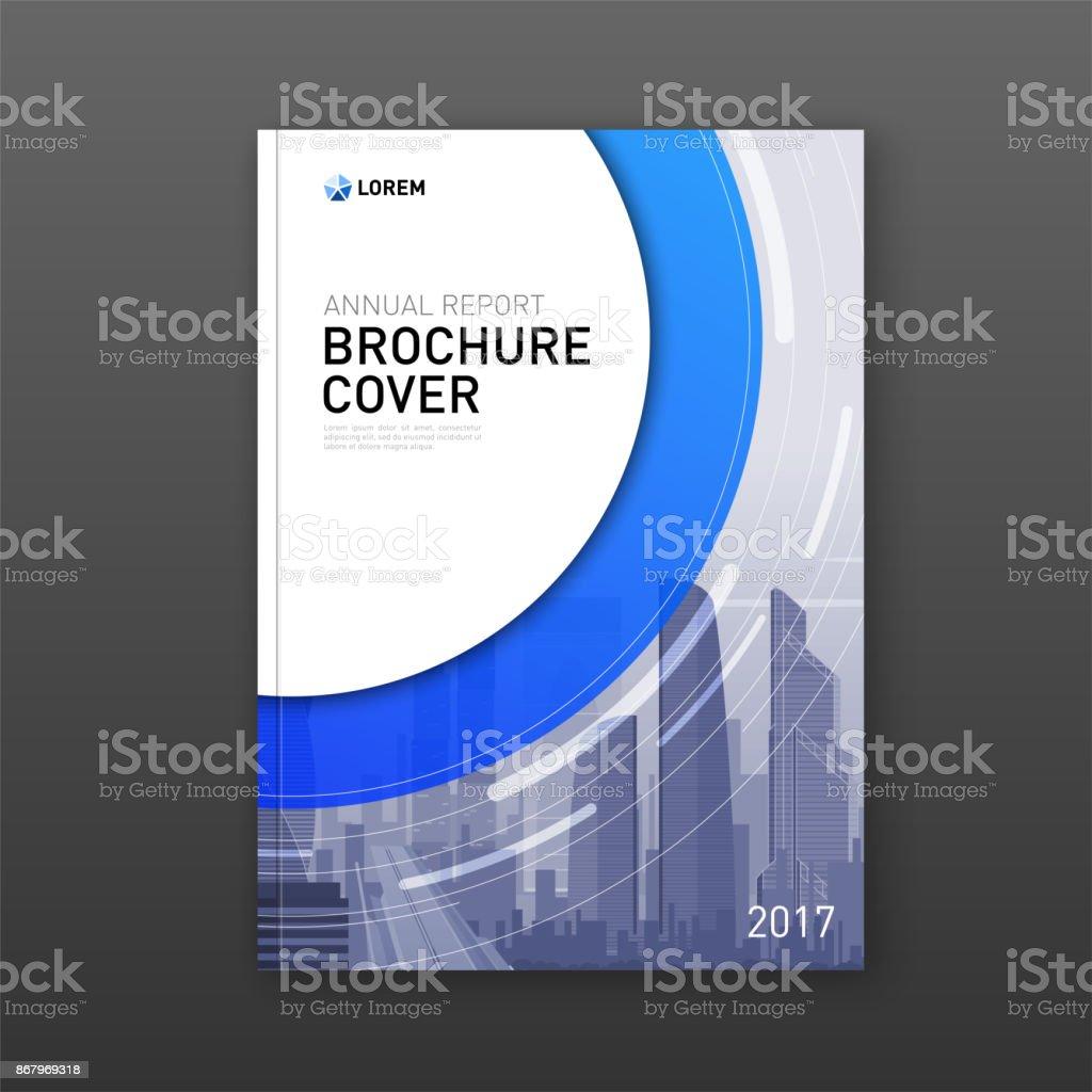 Business brochure cover design layout vector art illustration