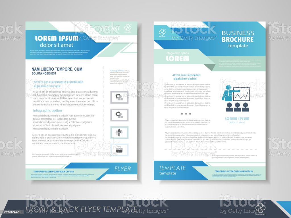 Business brochure cover design vector art illustration
