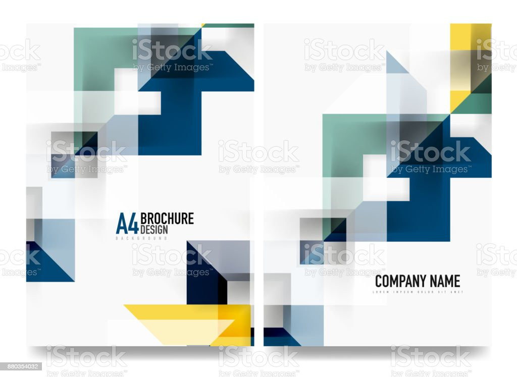 Business Brochure Cover Layout Flyer A4 Template Stock Vector Art