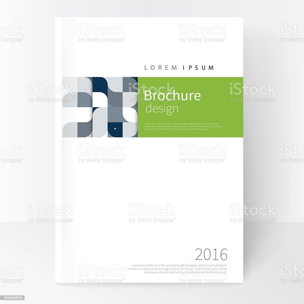 Business brochure cover template vector art illustration