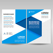 Front and back cover of business brochure