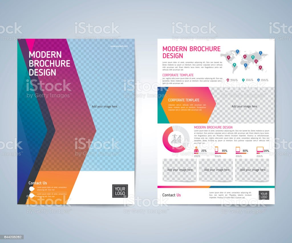 Business Brochure Design Layout Template Stock Vector Art - Brochure layout template