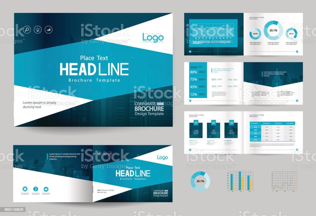 free company profile brochure template - business brochure design template and page layout for