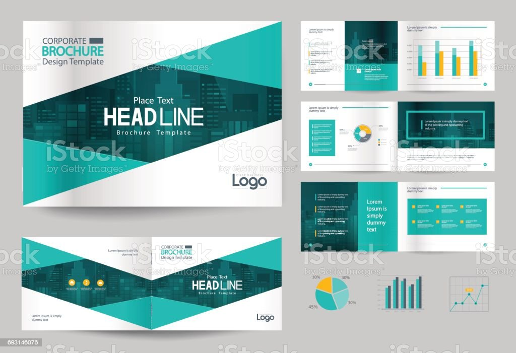 Business Brochure Design Template And Page Layout For Company Profile,  Annual Report,with Page  Corporate Profile Template