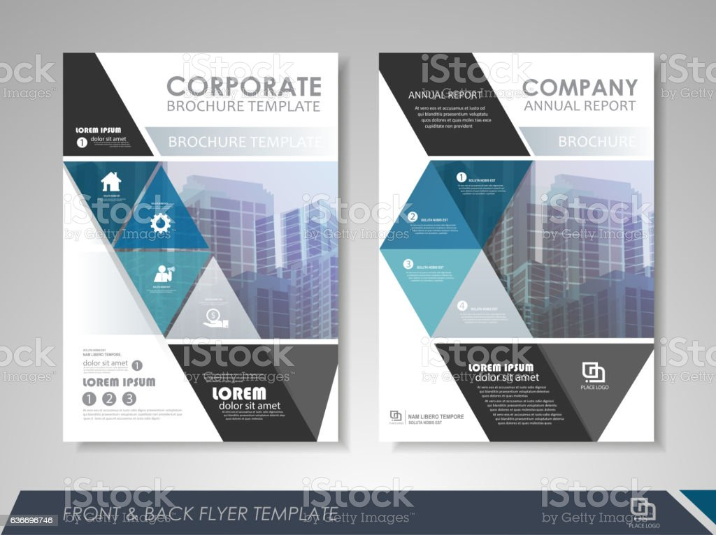 Business Brochure Design Template Stock Vector Art More Images Of - Brochures design templates