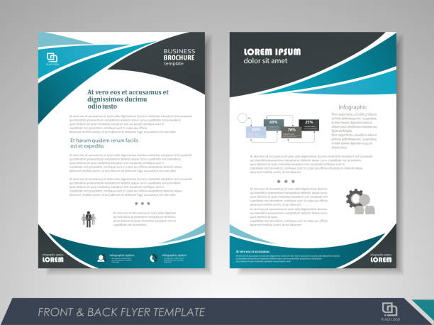 Business brochure design vector art illustration