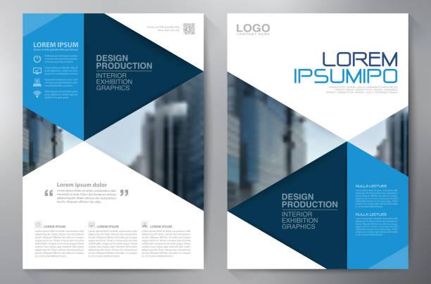 Business brochure flyer design a4 template vector art illustration