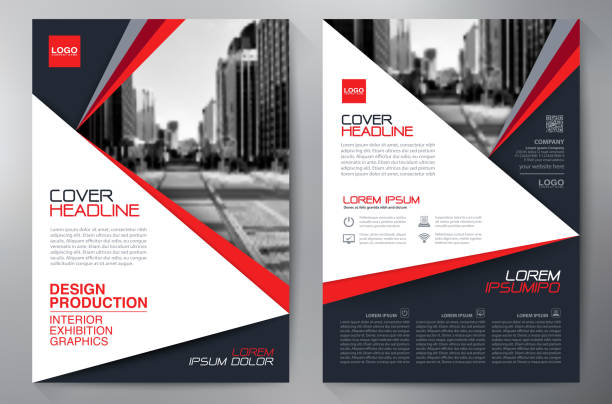 Business brochure flyer design a4 template. vector art illustration