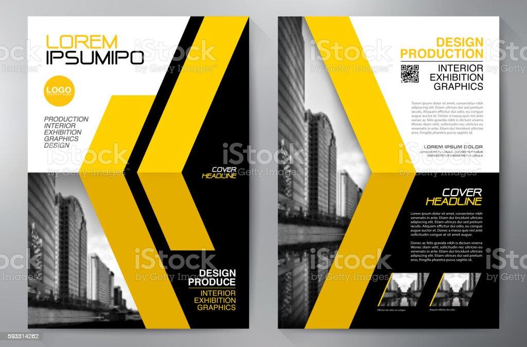 Business brochure flyer design a4 template. vector art illustration