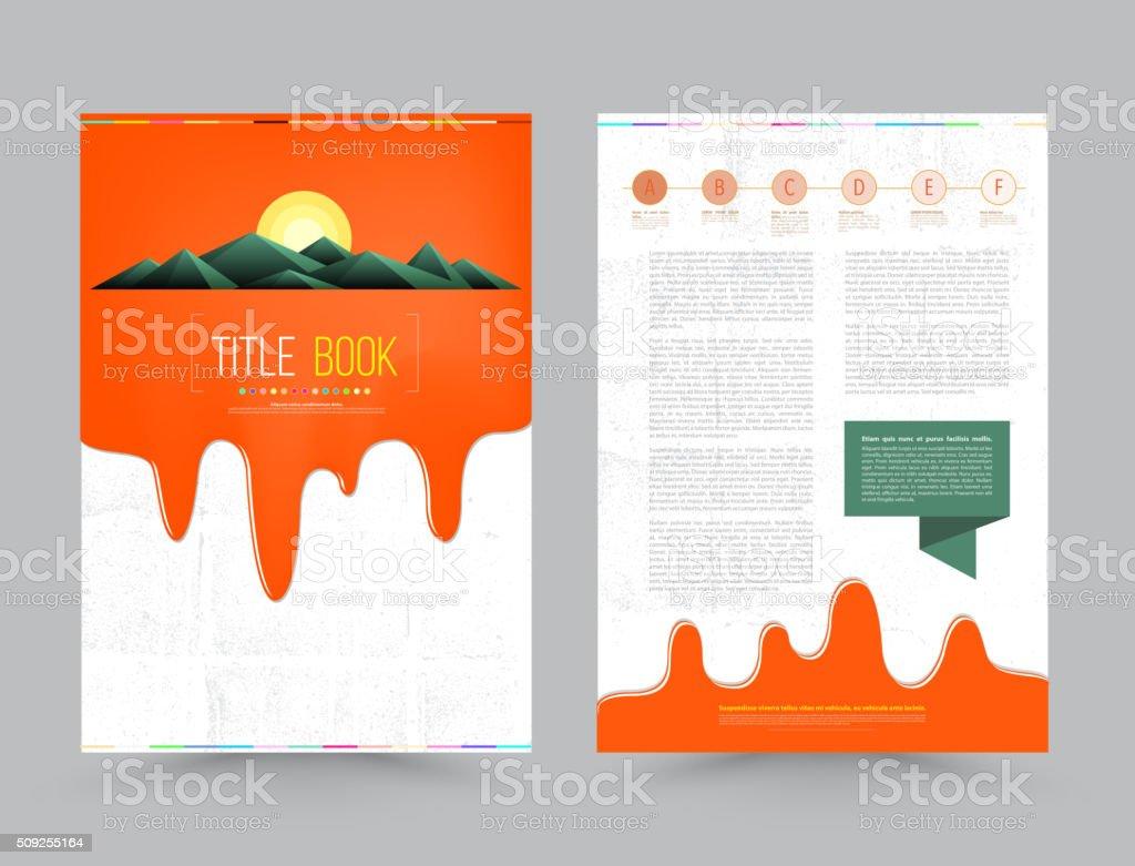Business Broschüre Vorlage Flyer Designlayout In Din A4 Stock Vektor ...