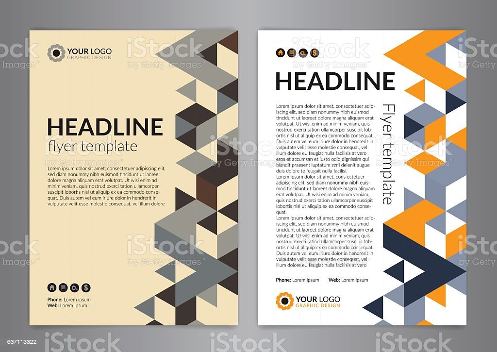 business brochure flyer design layout template size a4 アイデアの