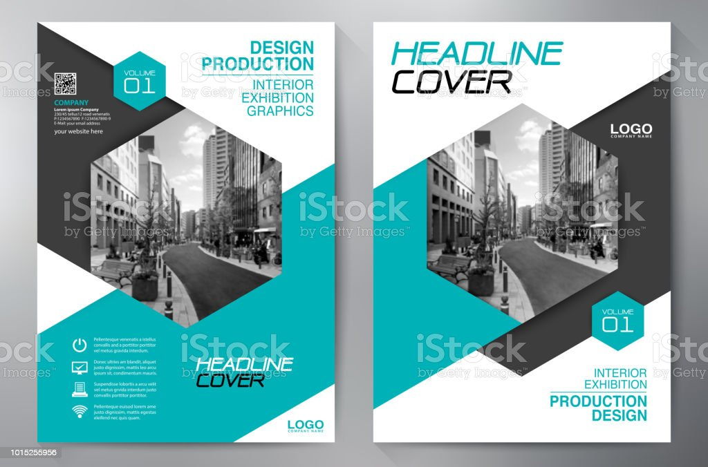 Business Brochure. Flyer Design. Leaflets a4 Template. Cover Book and...