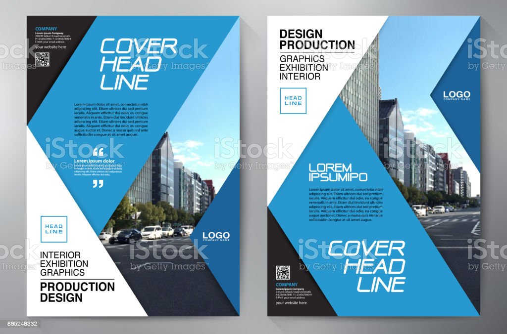 Business Brochure Flyer Design Leaflets A4 Template Cover