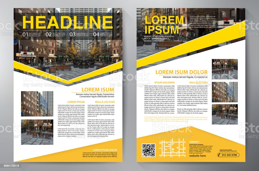 Business Brochure. Flyer Design. Leaflets a4 Template. Cover Book and Magazine. Annual Report Vector illustration – artystyczna grafika wektorowa