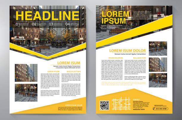 ビジネス パンフレット。チラシのデザイン。リーフレット a4 テンプレート。本や雑誌をカバーします。年次報告書のベクトル図 - チラシ点のイラスト素材/クリップアート素材/マンガ素材/アイコン素材