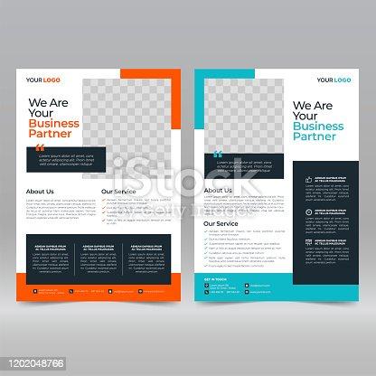 istock Business Brochure Flyer Design Template 1202048766