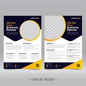 Business Brochure Flyer Design Template Vector Illustration