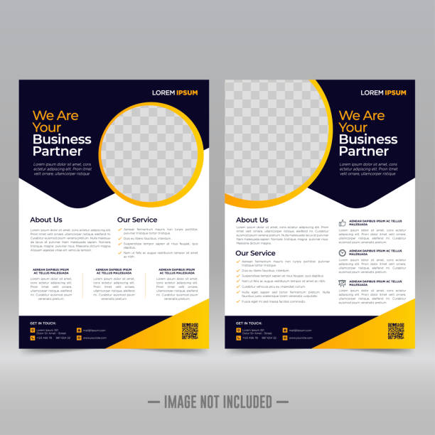 stockillustraties, clipart, cartoons en iconen met ontwerpsjabloon business brochure flyer - flyer