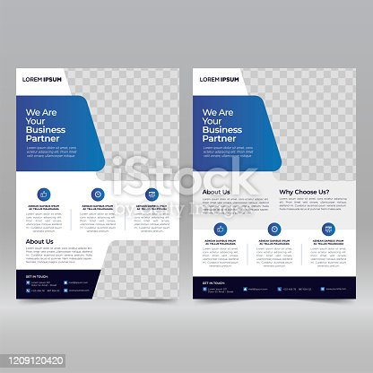 istock Business Brochure Flyer Design Template 1209120420