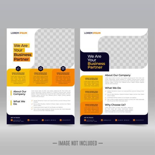 Business Brochure Flyer Design Template Business Brochure Flyer Design Template Vector Illustration flyers templates stock illustrations
