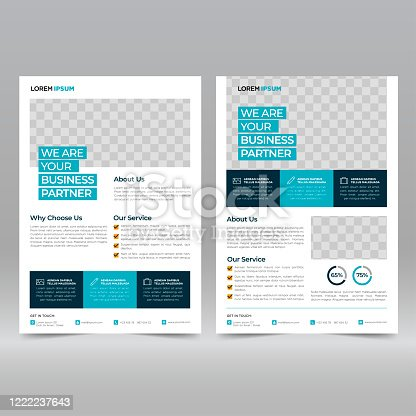 istock Business Brochure Flyer Design Template 1222237643