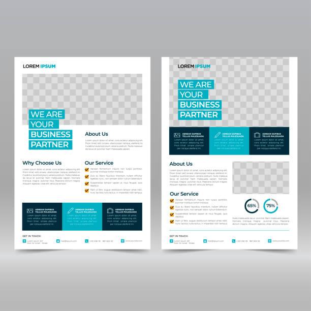 szablon projektu broszury biznesowej - broszura stock illustrations