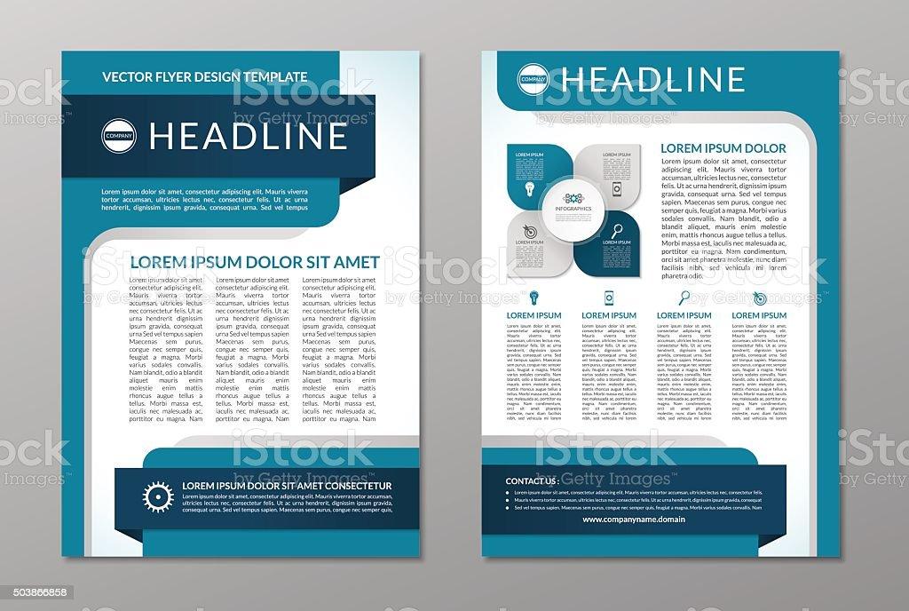 Business Broschüre Vorlage Flyer Design Din A4 Stock Vektor Art und ...