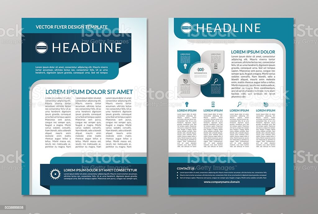 Business brochure flyer layout template. A4 size vector art illustration