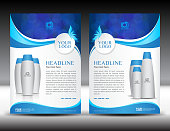 Business brochure flyer template vector for cosmetics , Beauty and spa, Fashion, Mack-up, Cream, lotion, perfume. Magazine ads, Poster, booklet, newsletter, leaflet, catalog, banner design layout