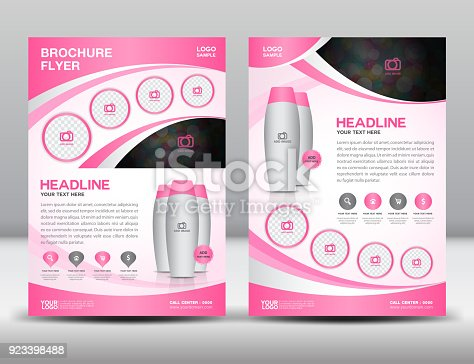 business brosch re flyer vorlage vektor f r kosmetik beauty und wellness mode mackup creme. Black Bedroom Furniture Sets. Home Design Ideas